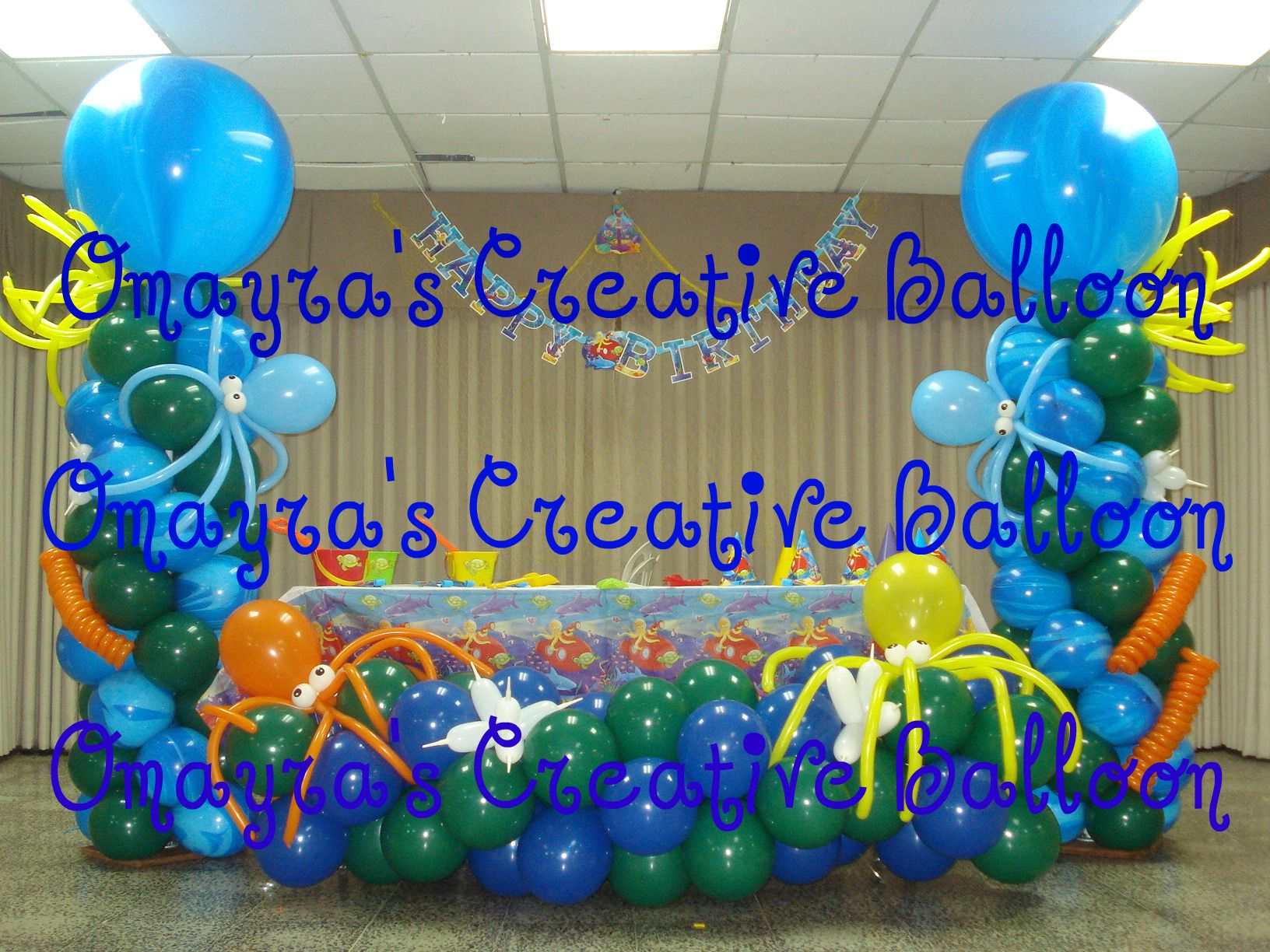 Under the sea decorations birthday