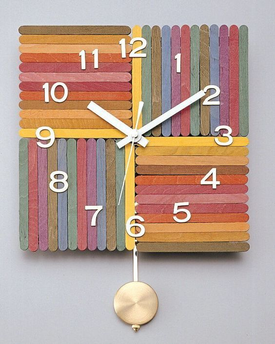 Popsicle Stick Clock