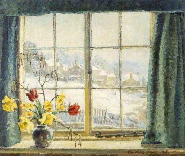 CONSTANCE EVELYN FEARS Winter Scene from Billet Cottage (1963)