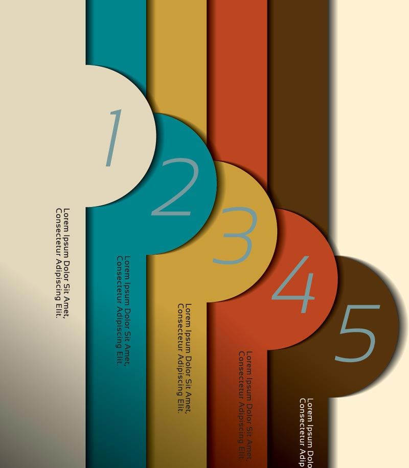Infographics numbered vector banners