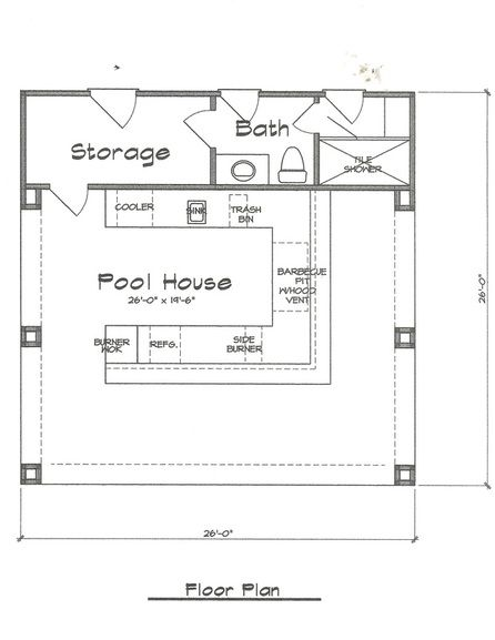 Pool Cabana Plan 676 Fonseca Home Plans House