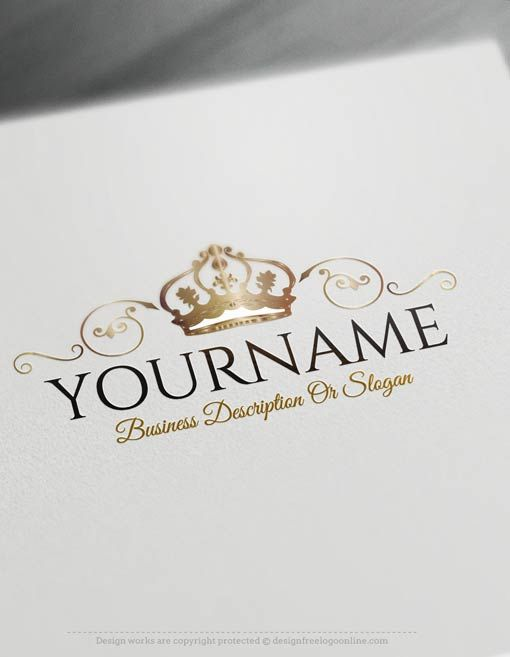 Make Your Logo Online With Our Free Logo Maker Tool Ready Made Online Crest Crown Logo Template Create A Logo Free Beauty Logo Design Logo Design Free