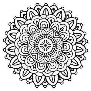 Free Printable Mandala Coloring Sheets #coloringsheets