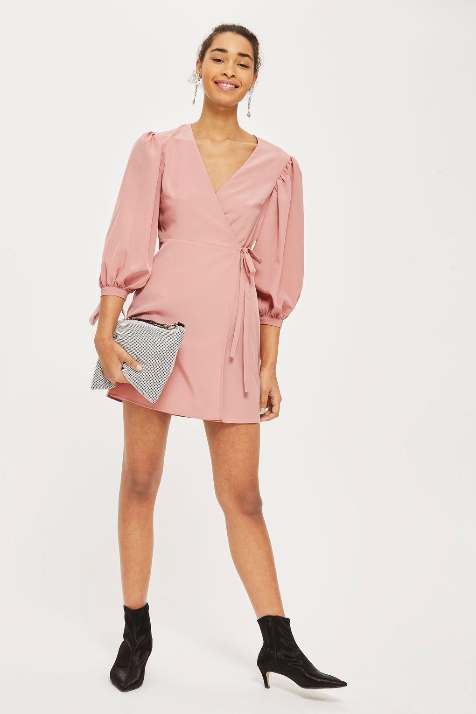 f095f5a7eab0 Ovoid Sleeve Wrap Dress - Dresses - Clothing - Topshop Europe