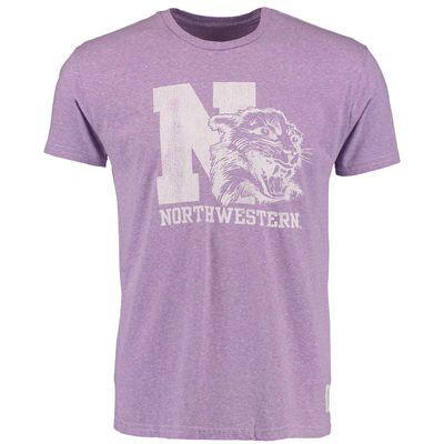 378ab8524 Original Retro Brand Northwestern Wildcats Heathered Purple Vintage  Tri-Blend T-Shirt
