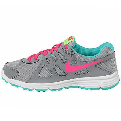 0a24e26fb037 NIKE REVOLUTION 2 GS KIDS 555090-008 Grey Pink Running Shoes Girls Youth  Size 7