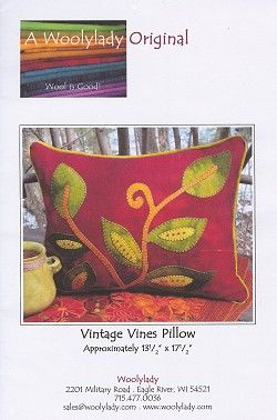 Woolylady vintage-vines-pillow