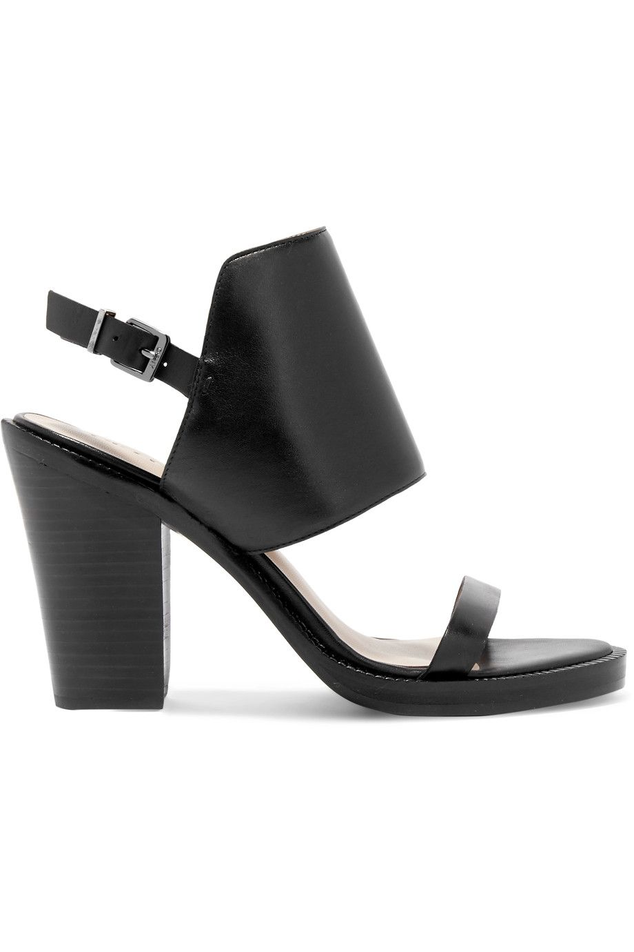 DKNY. Black High Heel SandalsLeather ...