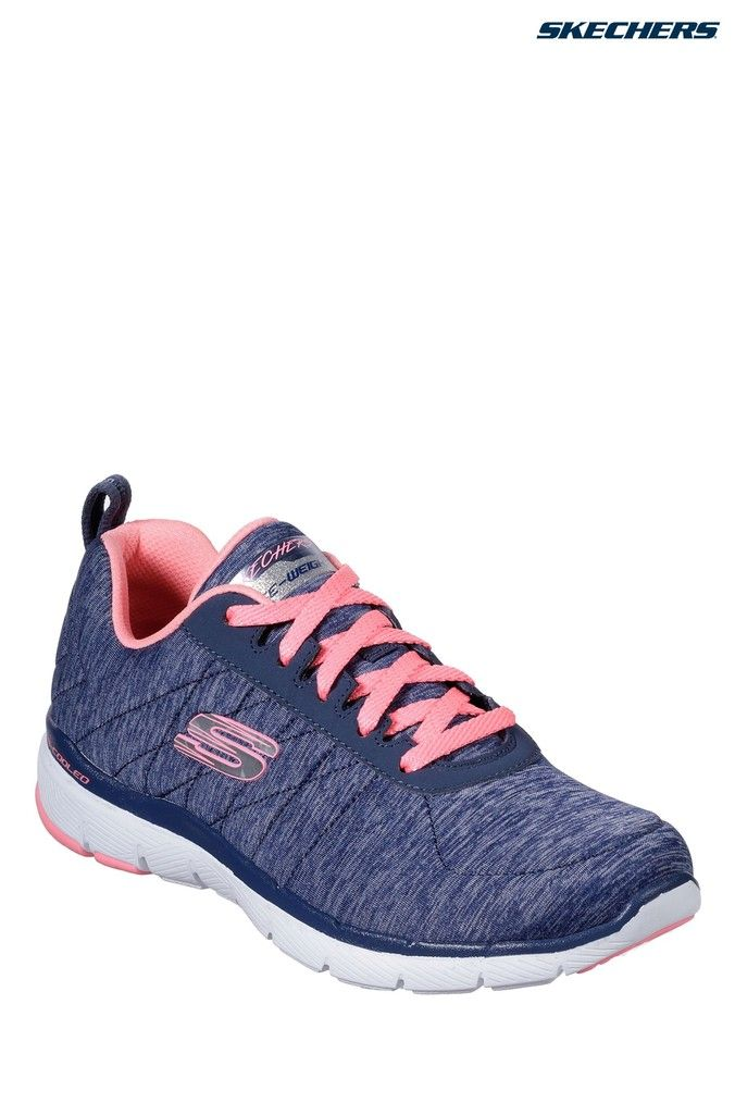 Womens Skechers Flex Appeal Insider Trainer Blue Skechers