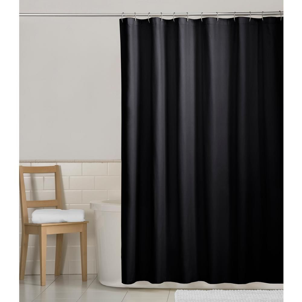 Maytex 70 In X 72 In Water Repellent Fabric Shower Curtain Liner