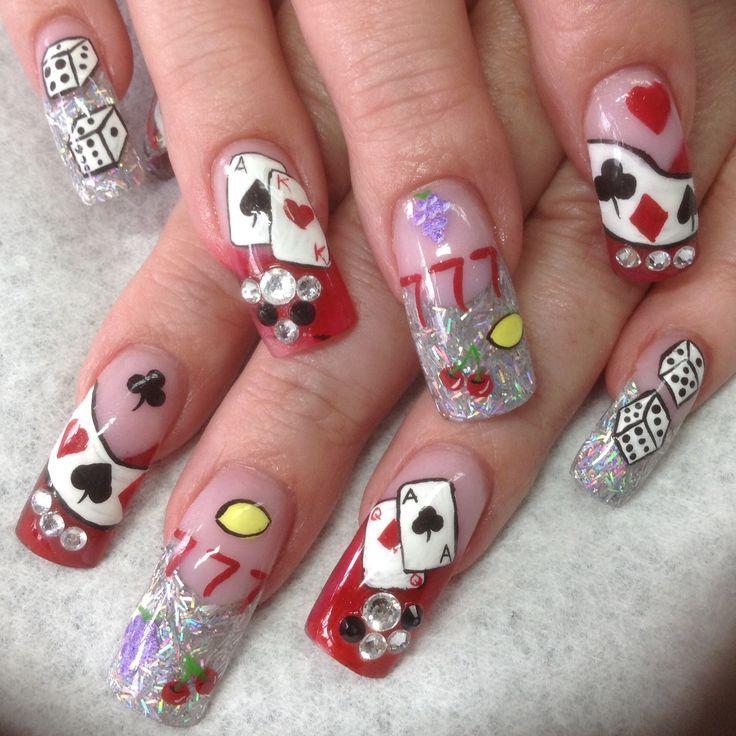 Rhinestone Nail Designs, Rhinestone Nails, Las Vegas Nails, Vegas Nail Art,  21st Birthday Nails, Punk Nails, Glamour Nails, Beautiful Nail Designs, Nail  ... - Pin By Minerva Torres On Vegas Nails Pinterest Vegas Nails, Las