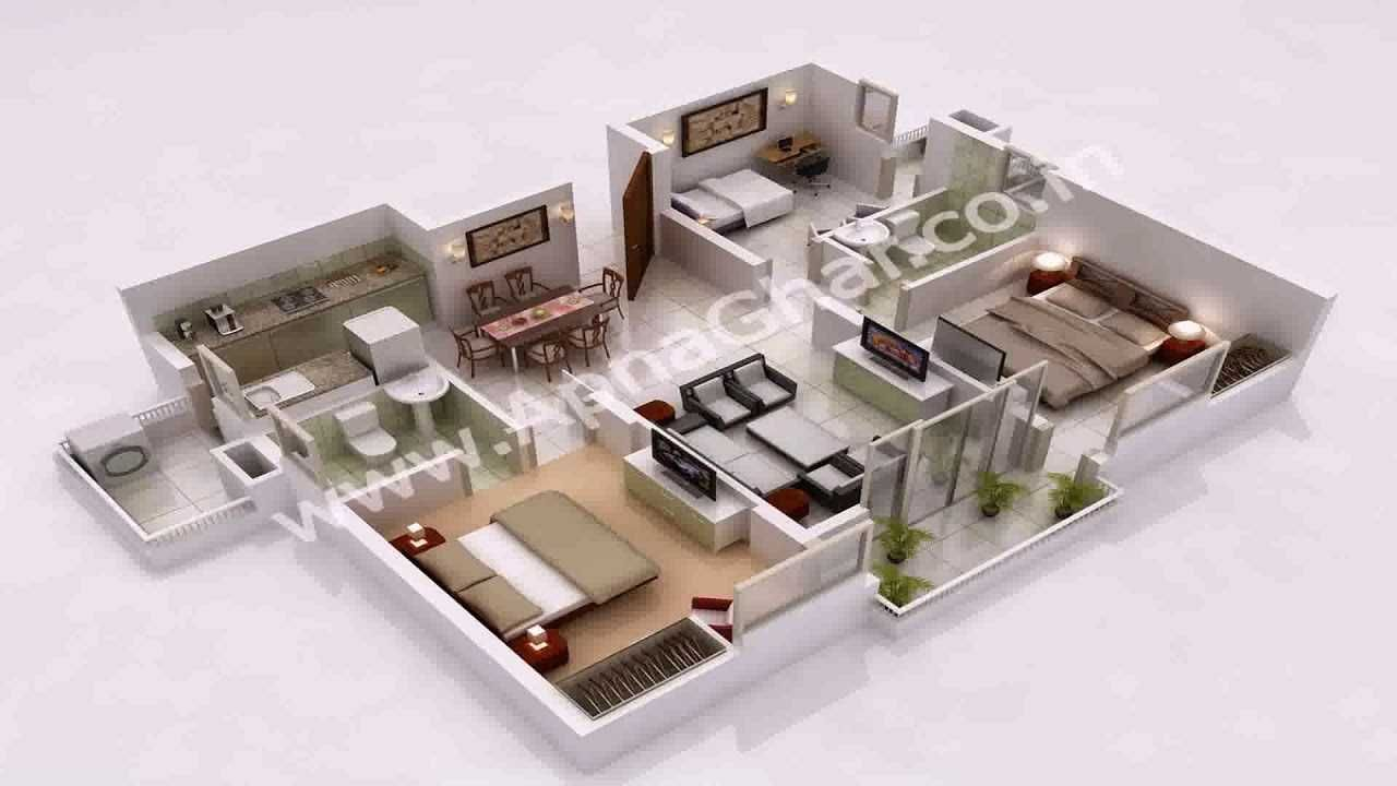 Simple House Plan With 5 Bedrooms 3d Teen In 2019 House Plans