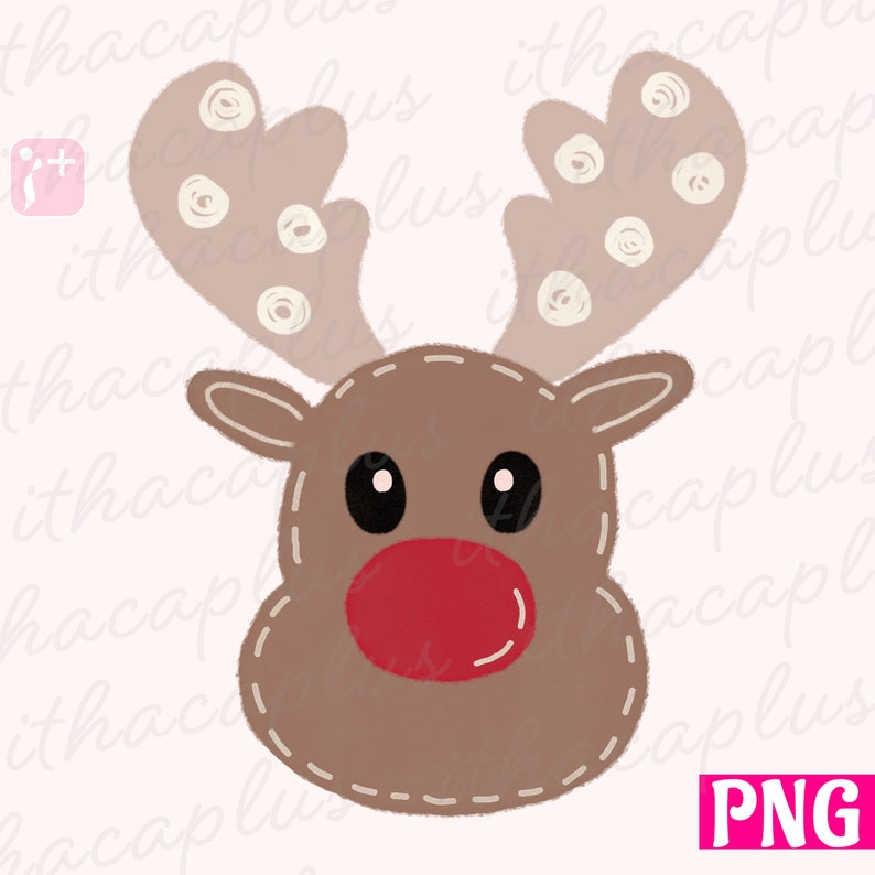 Reindeer Clipart Png Files For Sublimation Christmas Etsy Custom Teacher Appreciation Gifts Reindeer Drawing Reindeer Craft