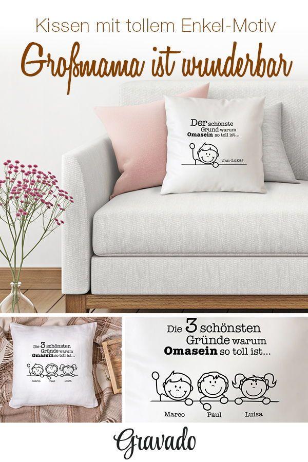Bedrucktes Kissen - Warum ich es liebe Oma zu sein - personalisiert ...
