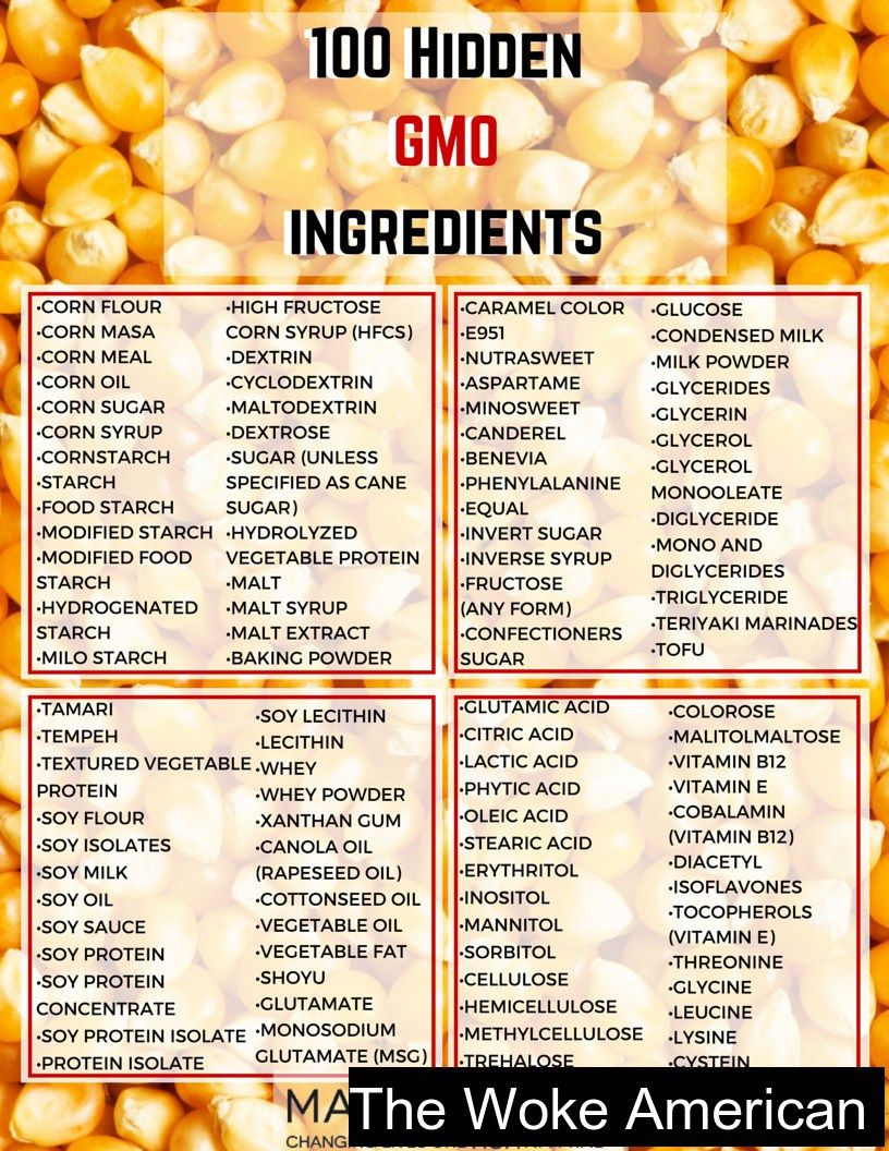 100 Hidden Gmo Ingredients Look For Them Don T Buy Products That