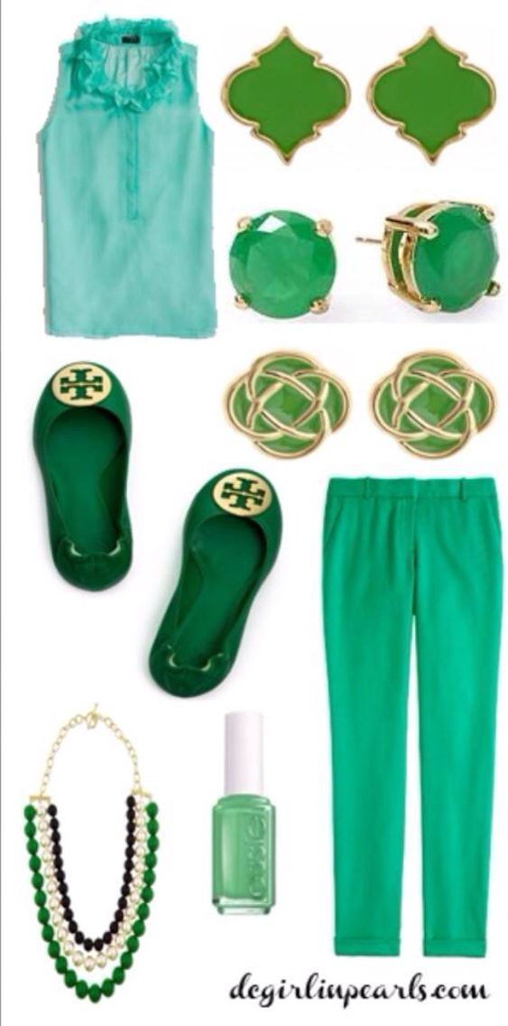 St Patrick's Day Greens #stllc #indulgencefornails #clothes #green #matchingnailpolish #stpatrickday #orlandonailspecialist #collegepark http://www.spatouch1.com http://www.facebook.com/SpaTouchLLC