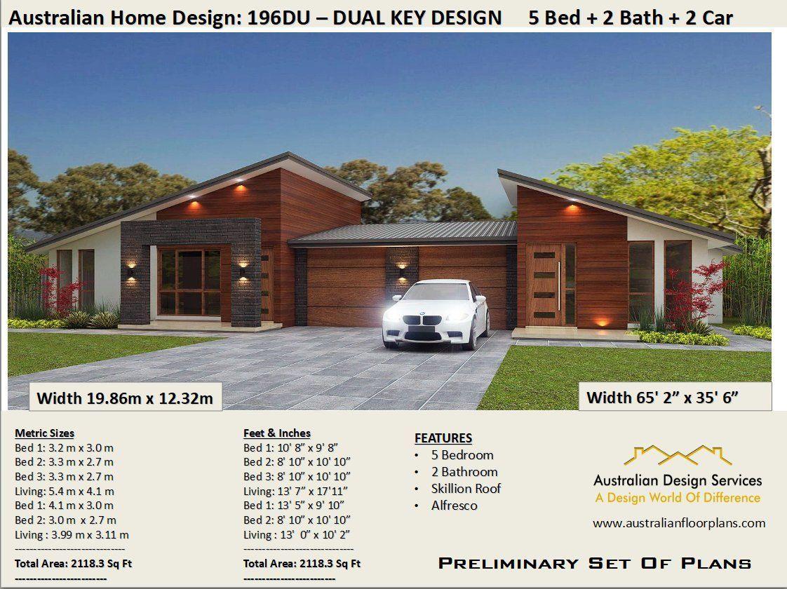 house plans 2115 Sq Ft (196 m2 ) | 5 Bedrooms duplex ...