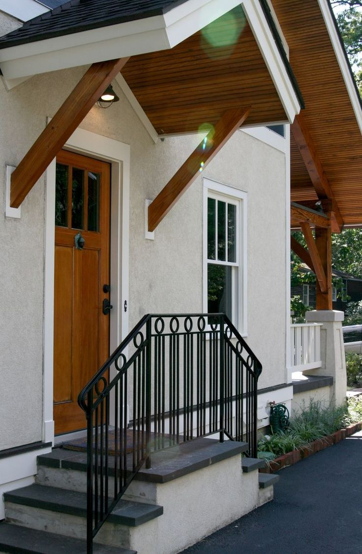 Image result for house view with no front porch front for Side porch