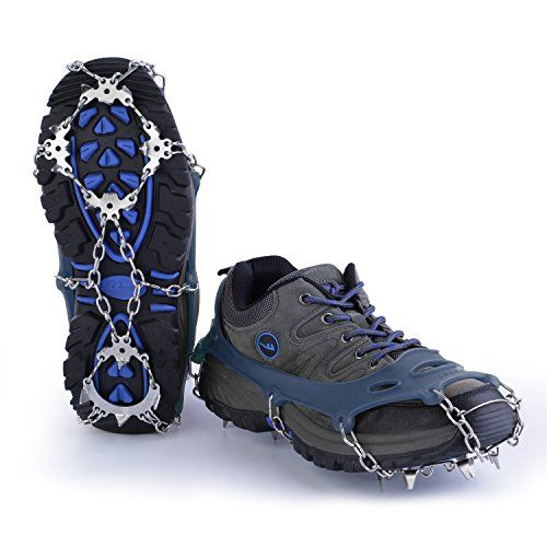 Crampons 18 Teeth Stainless Steel Slip-resistant Shoes Cover Outdoor Ski