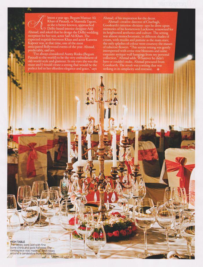 Good Earth S Bespoke Interior Design Division Charbagh Styled Kareenakapoor And Saifalikhan S Wedding Of The Year Indian Wedding Inspiration Good Earth India
