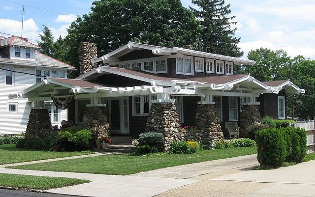 Anese Inspired American Craftsman Bungalow In Lancaster Ohio