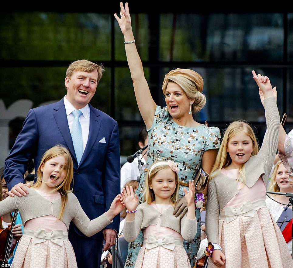 Dutch Queen Maxima and family celebrate first 'King's Day