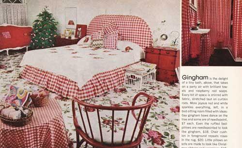 vintage gingham decor