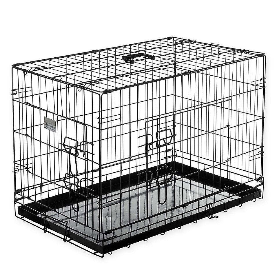 Pet Trex 36 Inch Portable Two Door Pet Kennel In Black Pet Kennels Large Dog Crate Extra Large Dog Crate