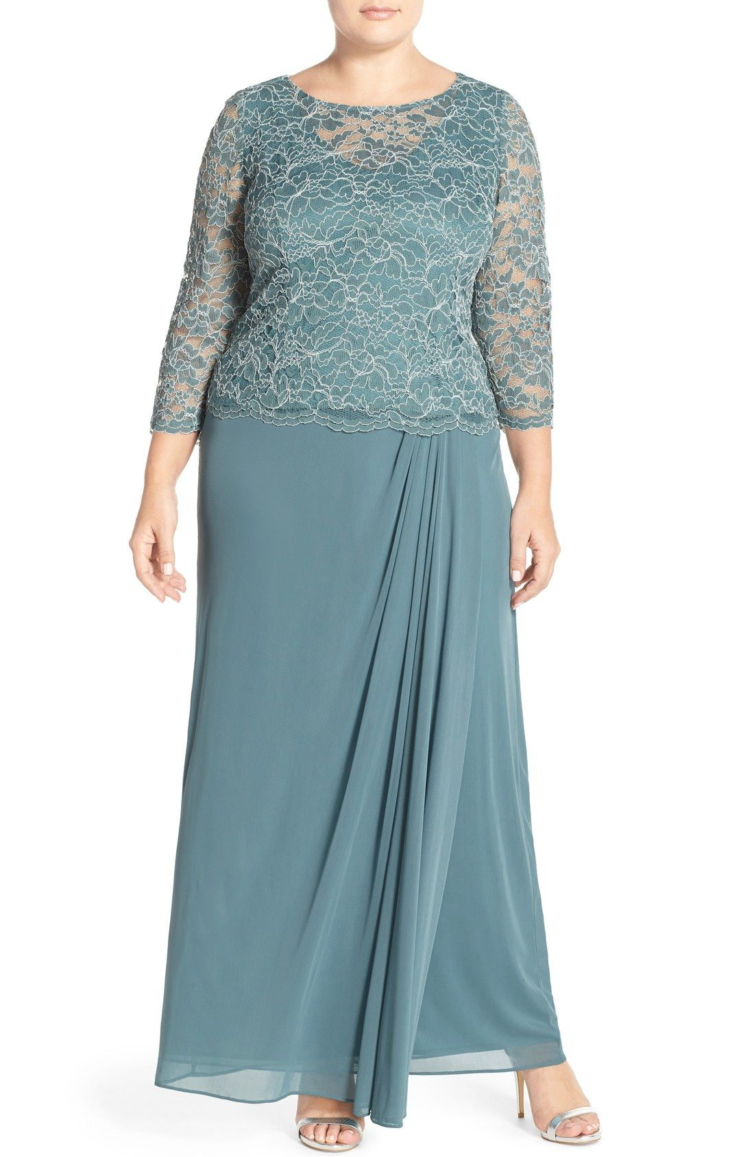 Alex Evenings Lace Bodice Gown (Plus Size) available at #Nordstrom ...