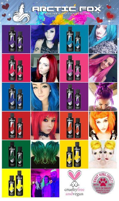 Arctic Fox 100 Vegan Wrath Semi Permanent Hair Dye Colour 4oz Amazon Co Uk Beauty Vegan Hair Dye Homemade Hair Dye Dyed Hair