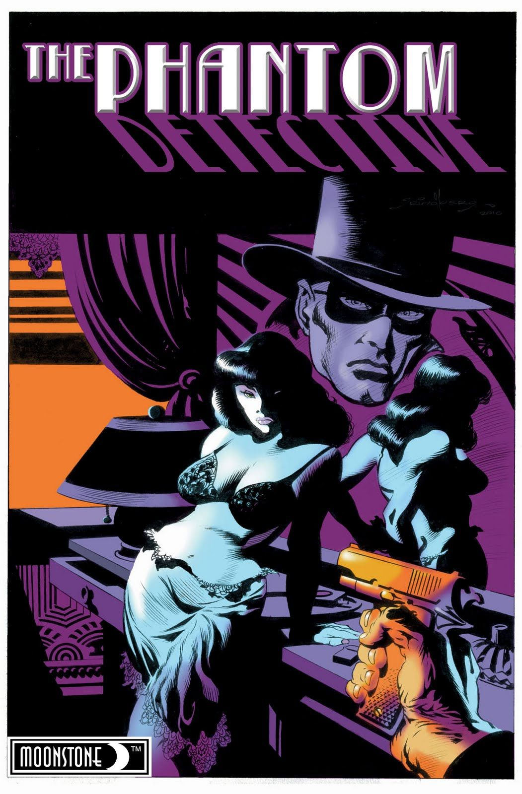 The Phantom Detective, by Tom Grindberg Comic art