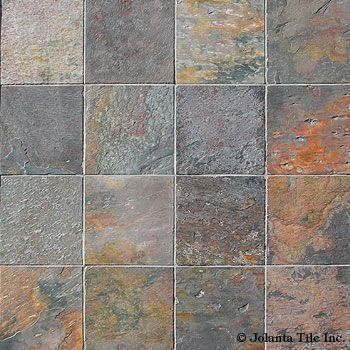 Indian Multicolor A Natural Stone Slate From Jolanta Tile Inc Slate Tile Floor Tile Floor Diy Tile Floor