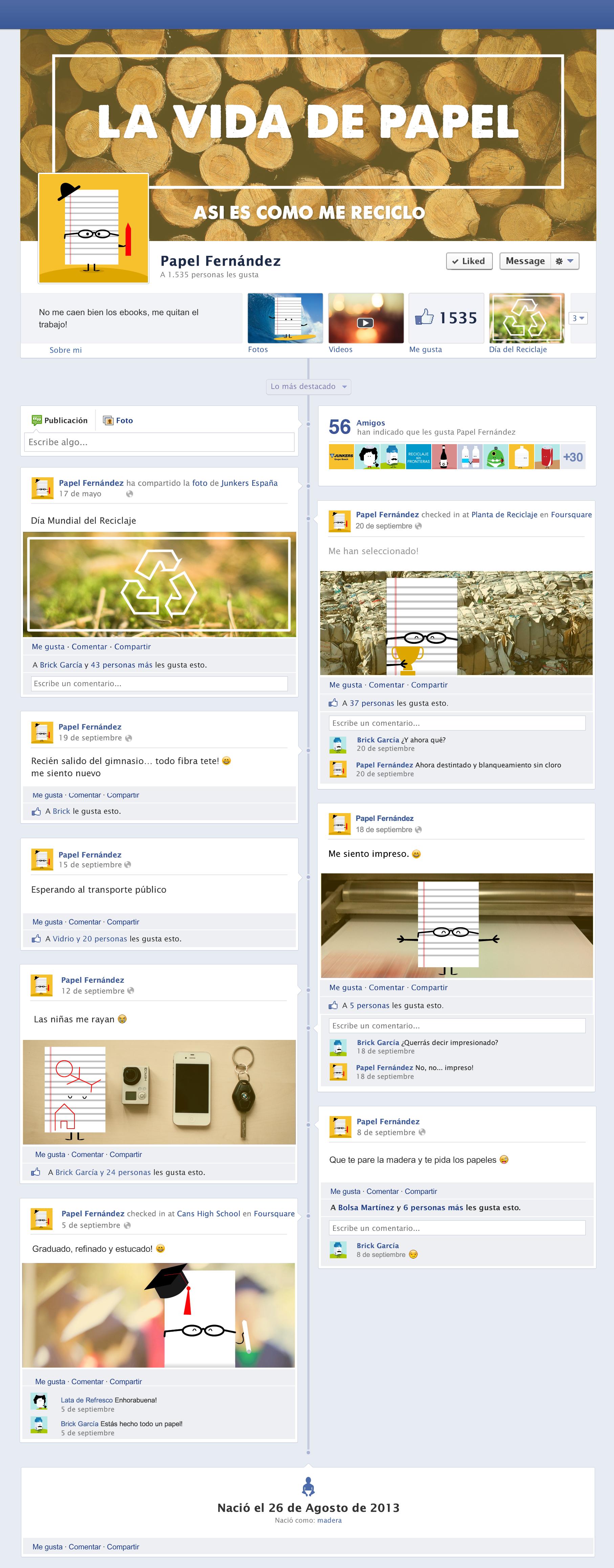 """La vida de papel """"Así es como me reciclo"""", un  interesante y curioso perfil de Facebook que no te dejará indiferente :)"""