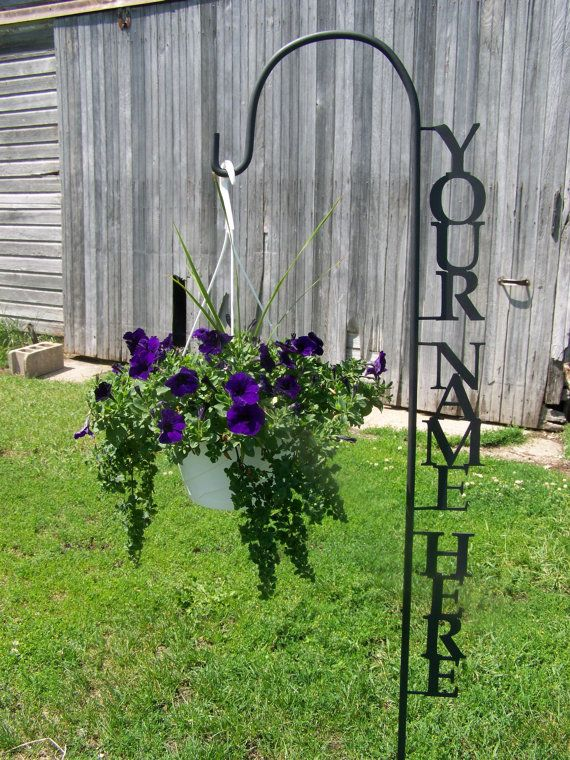 Shepherd Hook Personalized With Your Name Yard Garden Decor Art