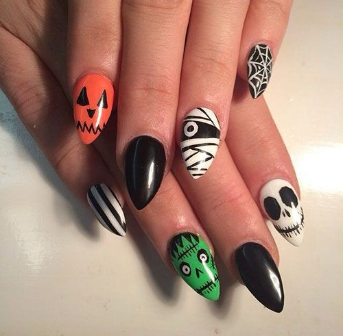 Cute and Funny Style in 2020 | Halloween nail designs ...