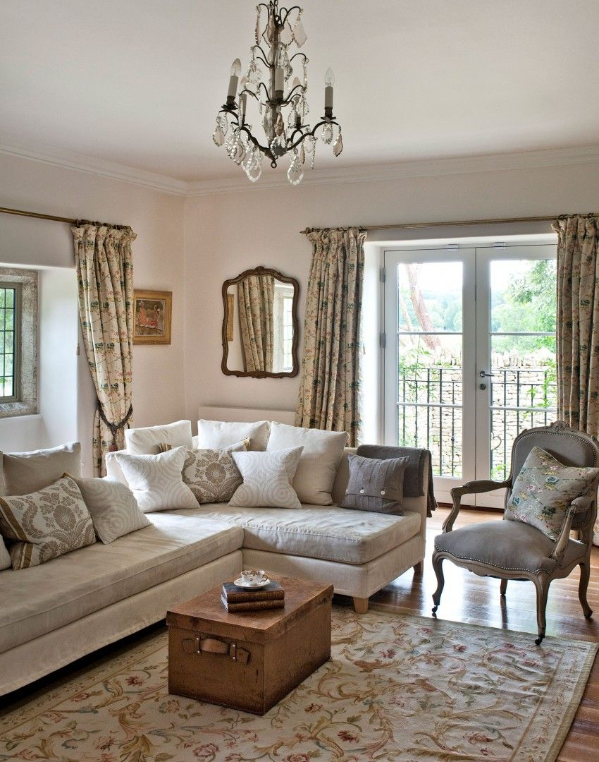 Neutral Traditional Living Room With Vintage Chest Coffee Table The Room Edit Traditional Living Room Country Style Interiors Country Living Room #small #living #room #chest