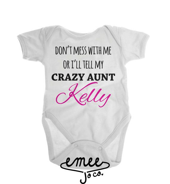 Personalised Favourite Auntie Baby Vest Bodysuit Babygrow Newborn Gift ANY NAME