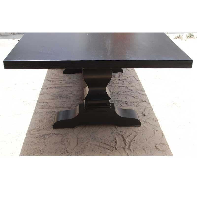 Trestle Pedestal Solid Wood Nottingham Rectangular Dining Table