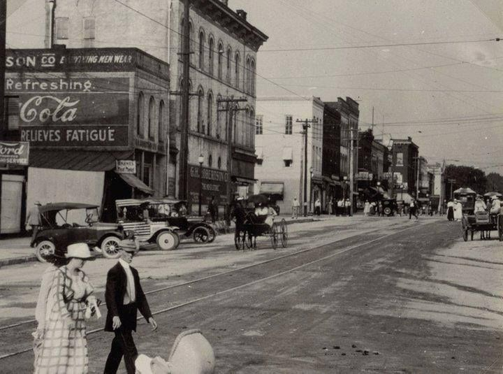 Downtown Jackson Tn 1918 Jackson Tennessee Old Photos Old