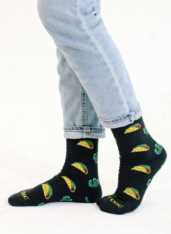 Men Combed Cotton Socks Funny Happy Novelty Long Crew Socks Beatles Rock Crazy Fun Funky Skateboard Socks Colorful Yellow Sox Men's Socks