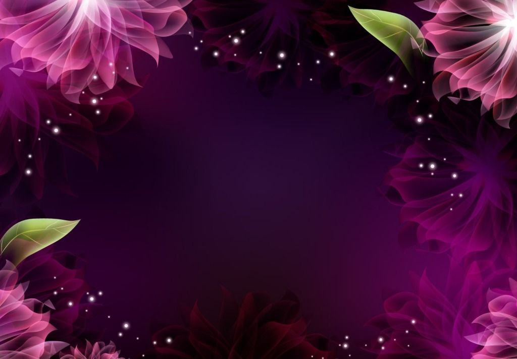 Bright Pink Shiny Flower Frame Powerpoint Background Available In