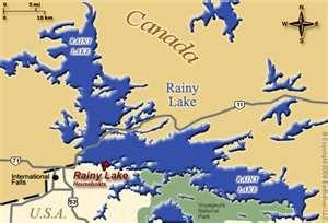 Rainy Lake Ontario Canada Map Map of Rainy Lake | Rainy lake, Rainy river, Lake