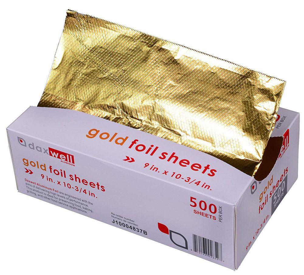 Daxwell J10004837 Kitchen Aluminum Foil Sheets Gold 9 X 10 75 3 000 Sheets Daxwell Aluminum Foil Foil 10 Things