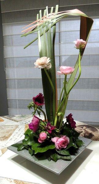 ART FLORAL DE FEVRIER 2015 - MARINE'SCRAP   Arrangements floraux modernes, Arrangements floraux ...