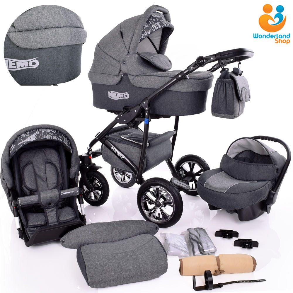 Baby Pram Stroller Pushchair + Car Seat Carrycot Buggy Travel System Details About Baby Pram 3in1 Newborn Buggy Car Seat Carrycot