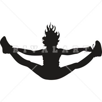 Cheerleader toe touch. Clipart kid cool crafts