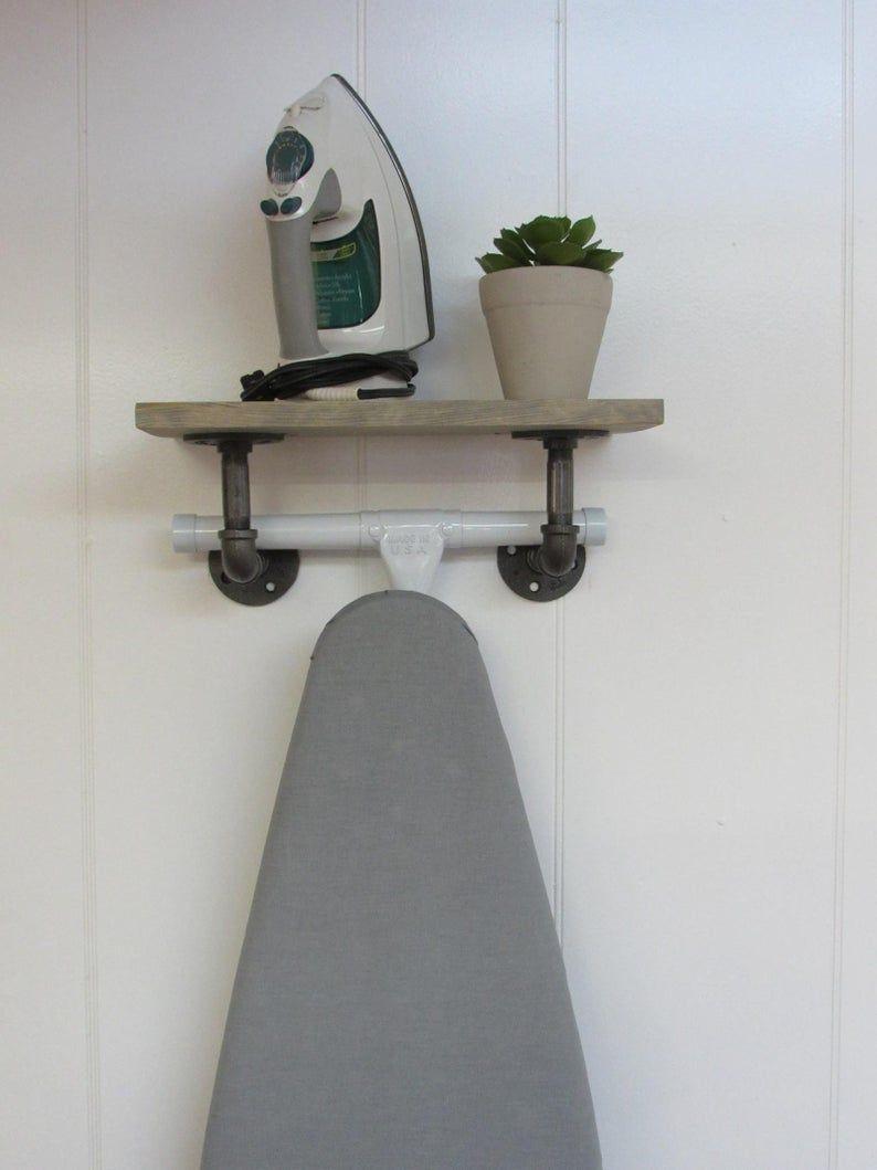 Ironing Board Hanger Ironing Board Storage Ironing Board Etsy In 2020 Ironing Board Storage Ironing Board Hanger Board Storage