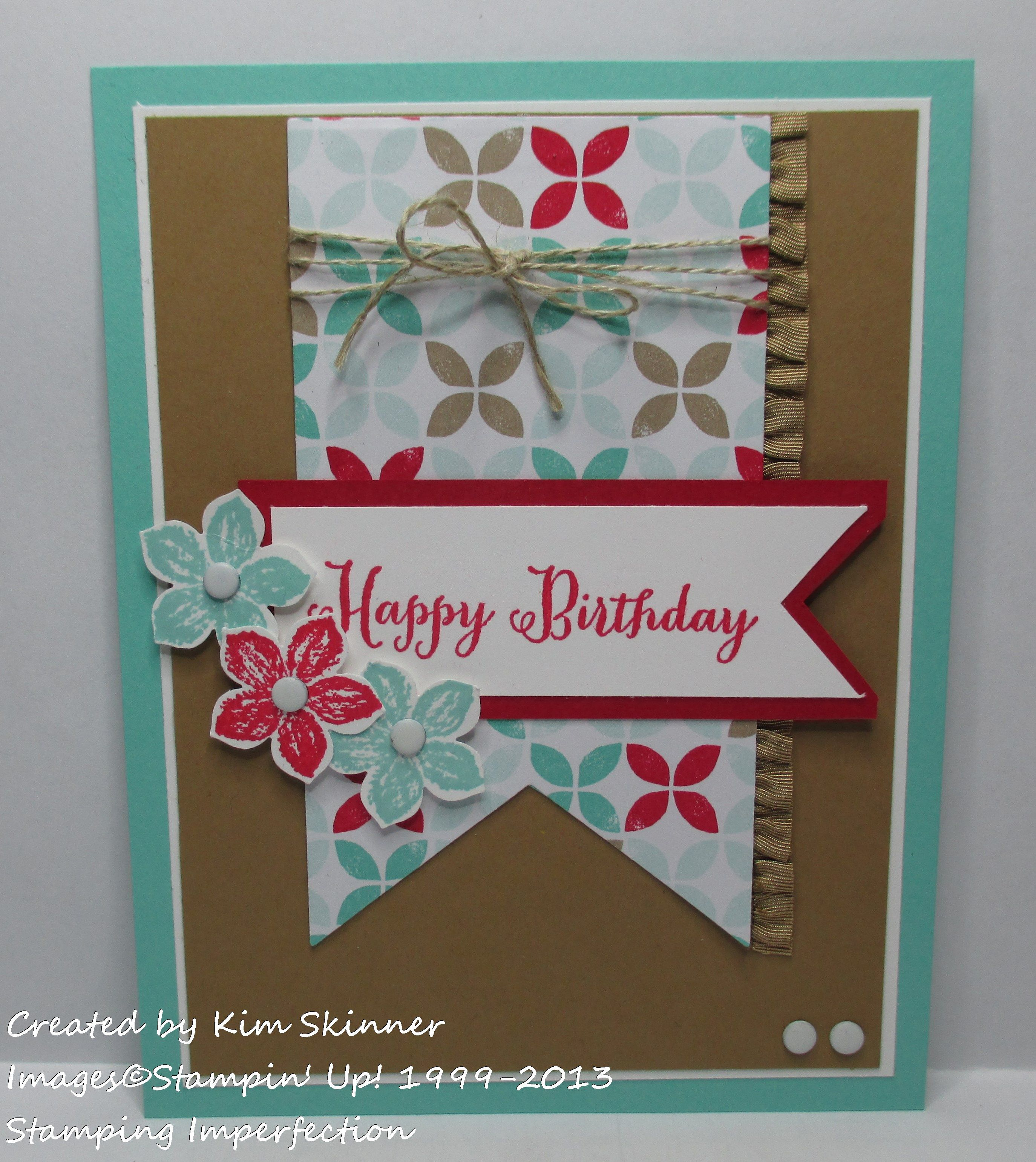 Diy Birthday Cards With The Latest Trends Stamping Imperfection