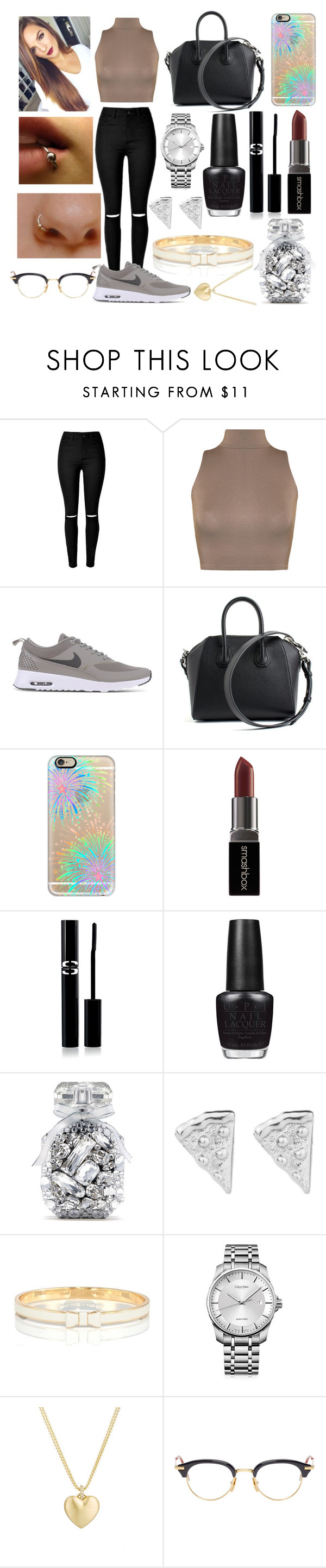 """""""tenue swag"""" by lululecuyer ❤ liked on Polyvore featuring WearAll, NIKE, Givenchy, Casetify, Smashbox, Sisley Paris, OPI, Victoria's Secret, Kate Spade and Calvin Klein"""