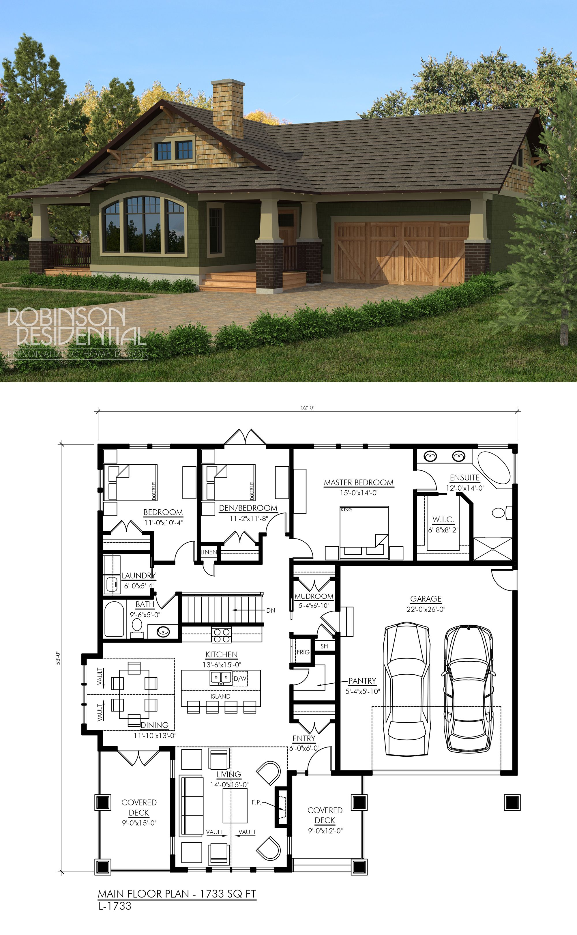 Craftsman Style House Plan 3 Beds 2 5 Baths 2303 Sq Ft Plan 1067 2 In 2020 Dream House Plans Craftsman Style House Plans Craftsman House Plans